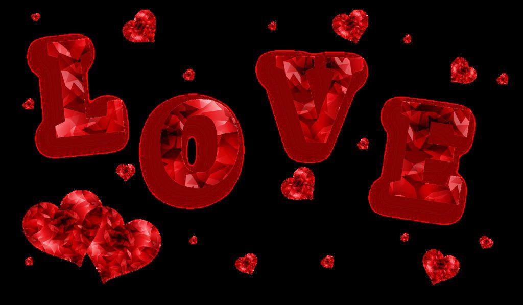 love, hearts, banner